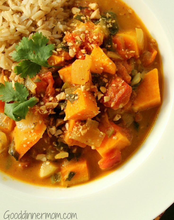 African Peanut Stew. | Soups and Stews | Pinterest