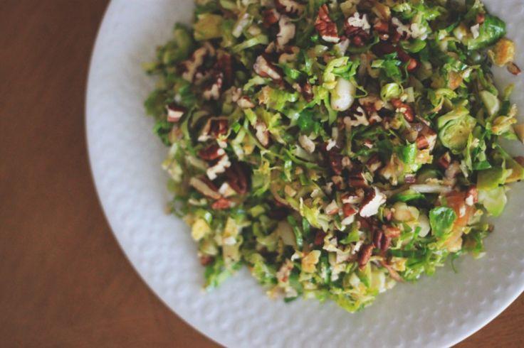 Shredded Brussels Sprouts Salad - Maple Syrup, Apple Cider Vinegar ...