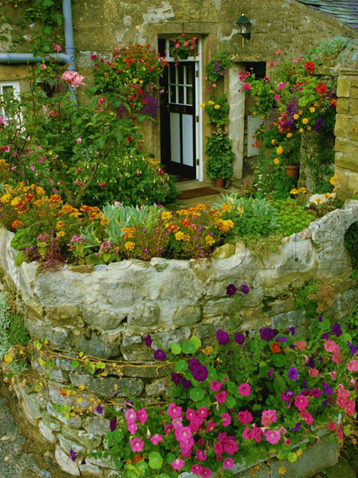 Old stone wall garden for the home pinterest for Rock wall garden