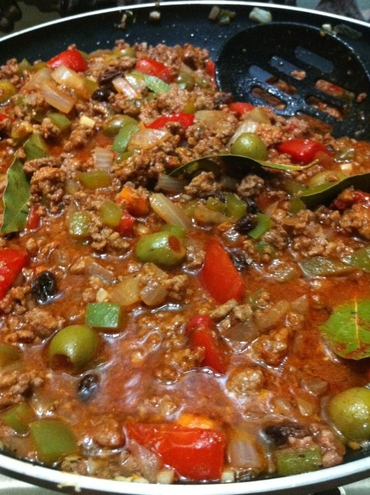 Beef Picadillo. My mom used to make this when I was a kid, and I ...