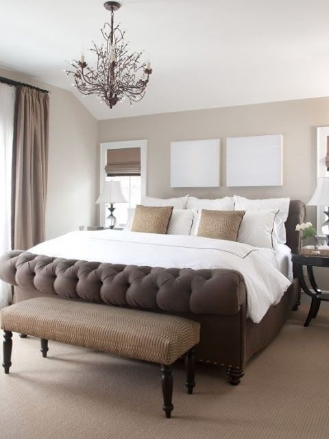 gorgeous bed love the neutral palette master bedroom
