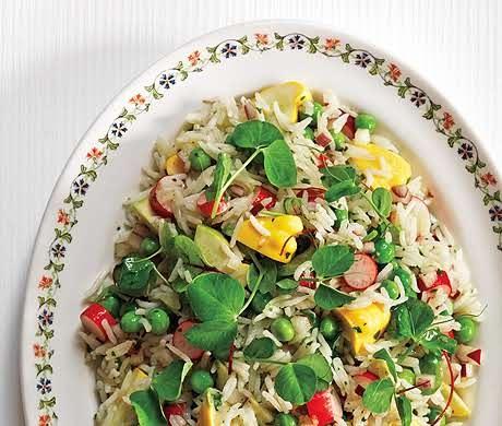 Basmati Rice with Summer Vegetable Salad | Recipe
