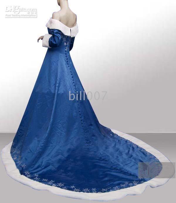 Dress blue plus size wholesale 2015 winter blue wedding dresses