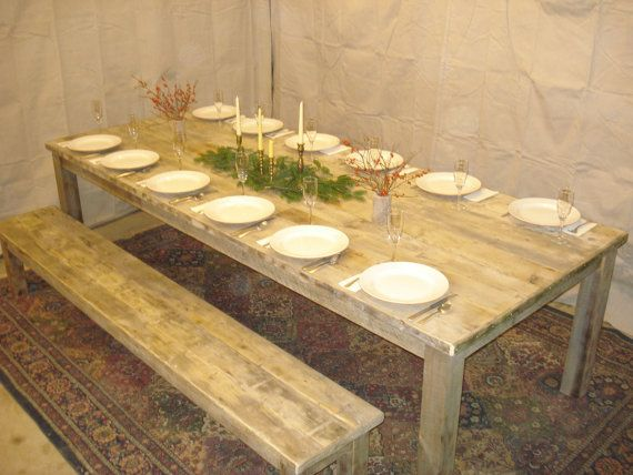 Driftwood Dining Room Table 108L x 44W x 29H by DriftwoodTreasures, $1669.00