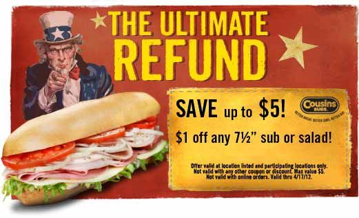 Cousins coupon code