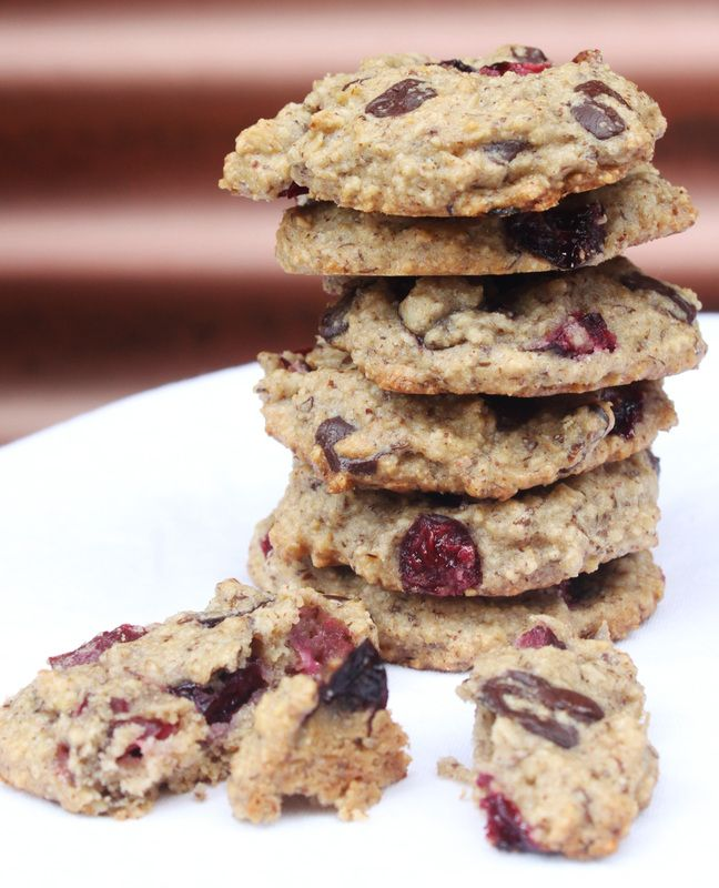 Cherry Chocolate Chunk Cookies (GF, DF, Vegan, RSF)