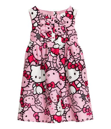 h m hello kitty patterned dress s my princess. Black Bedroom Furniture Sets. Home Design Ideas