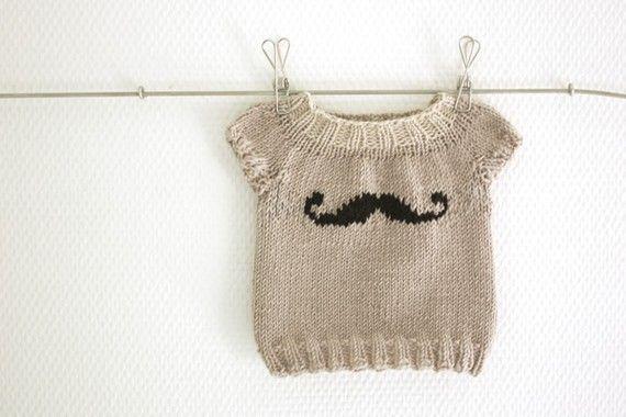 Mini Moustache Baby sweater Pattern