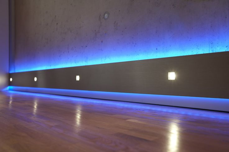Led light strips for floor pinning your way to the - Led skirting board lighting ...