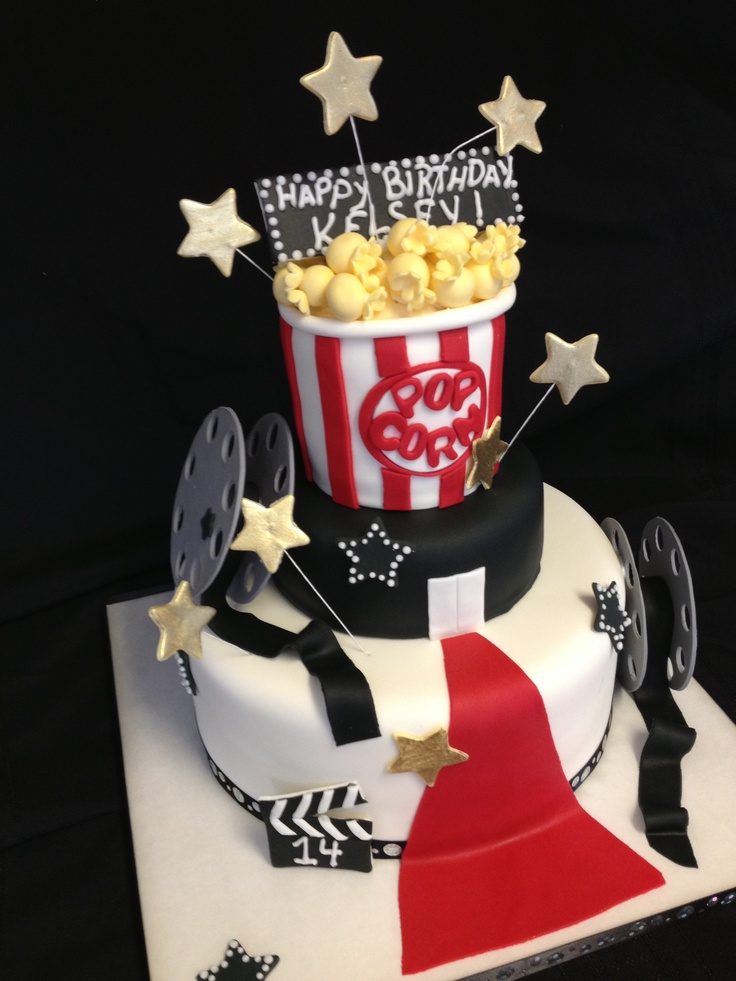 Movie themed cake. Movie Night Party Pinterest