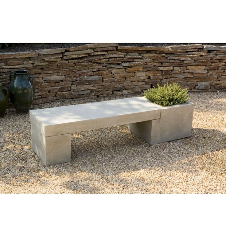 Garden Tables And Benches Concrete ... - International Tribute Cast Stone Backless Garden Bench At