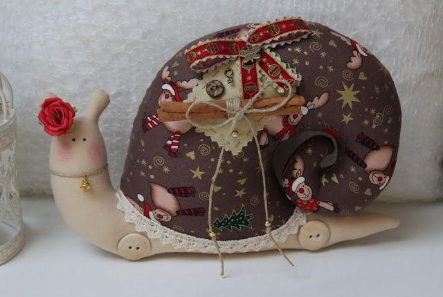 Vicky унд Рики: Шоколад Тильда Улитка на Рождество, в винтажном стиле