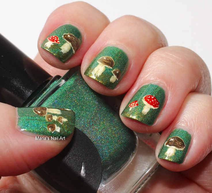 Mushrooms on nails! Great for spring!