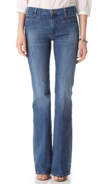 MiH Marrakesh High Rise Flare Jeans, faded