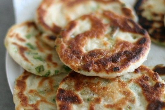 Chinese Green Onion Pancakes | appetizers and side dishes | Pinterest
