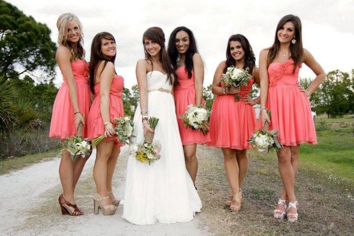 Salmon Colored Bridesmaid Dresses - Rose Bridesmaid Dresses