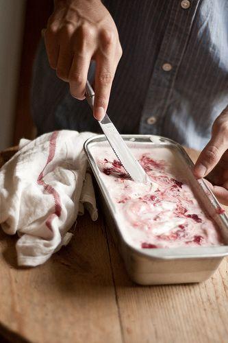 Strawberry-Vanilla Swirled Ice Cream | ~ Sweets & Treats ~ | Pinterest