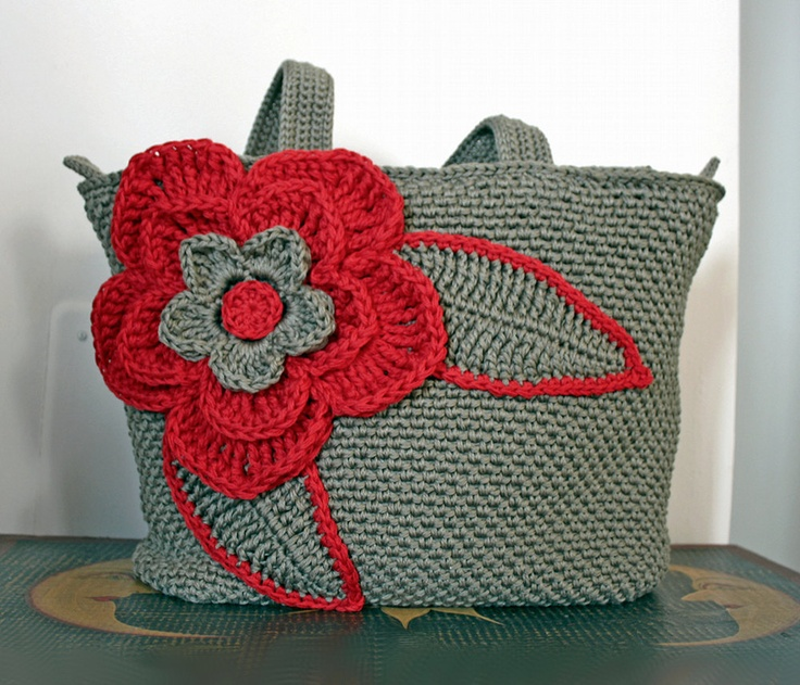 Crochet Bag Tutorial Youtube : Red and Clay crochet tote bag, shoulder bag, cotton yarn, fiber, text ...