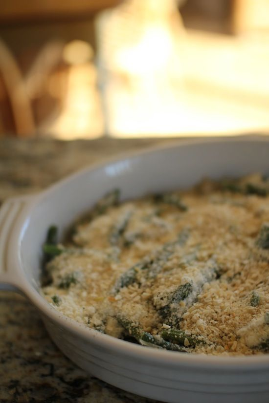 skinny green bean casserole. now I know what to do with the mound of ...