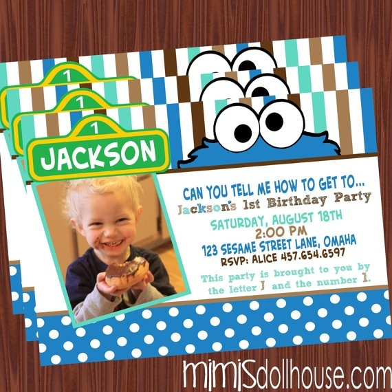 Cookie Monster Birthday Invitations absolutely amazing ideas for your invitation example