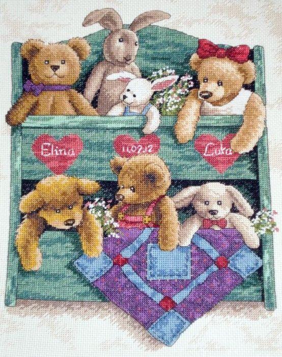 13684 animal shelf схема вышивки 81