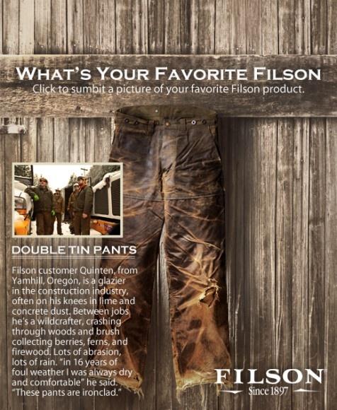 Filson SINGLE TIN BOOT PANT, Style# 14052, filson tin pants,filson ...
