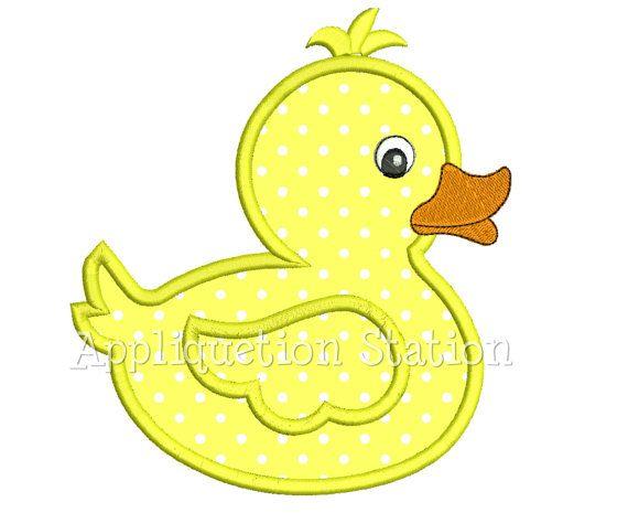 Ducky applique machine embroidery design baby boy girl duck instant