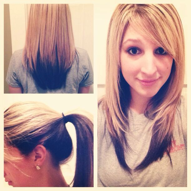 ... blonde red hair color ideaspin hair color with blonde underneath