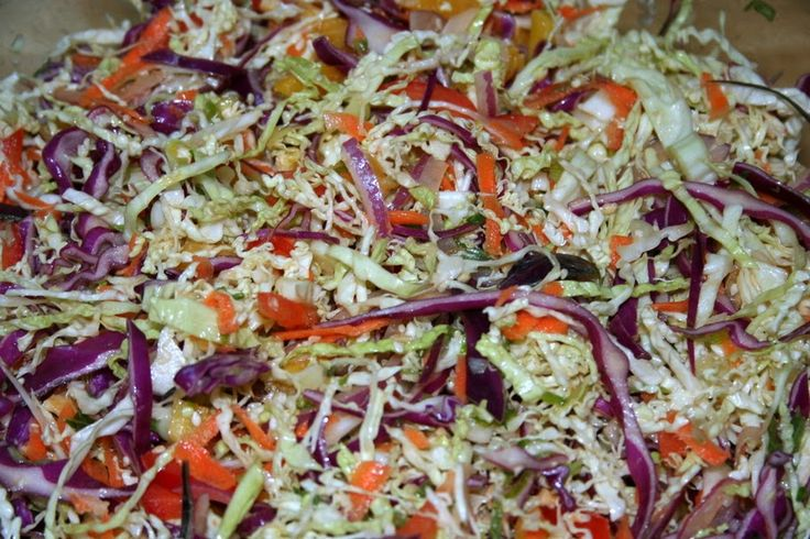 Slow-carb/Paleo Whole30 Asian-inspired cole slaw recipe