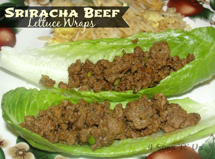 Sriracha Beef Lettuce Wraps | Food I'd like to think I'll make | Pint...