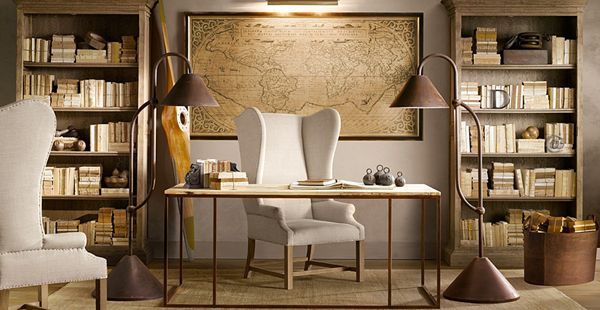 restoration hardware office design interiors pinterest