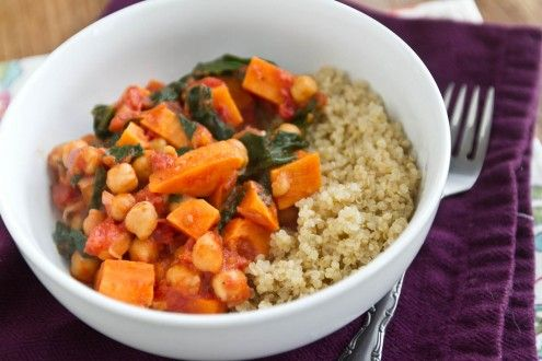 ... Ella | Sweet Potato and Chickpea Stew with Quinoa | Naturally Ella
