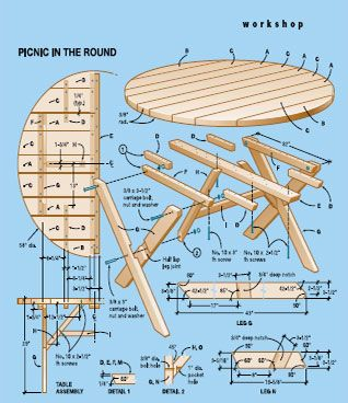 round picnic table plans | summer time | Pinterest
