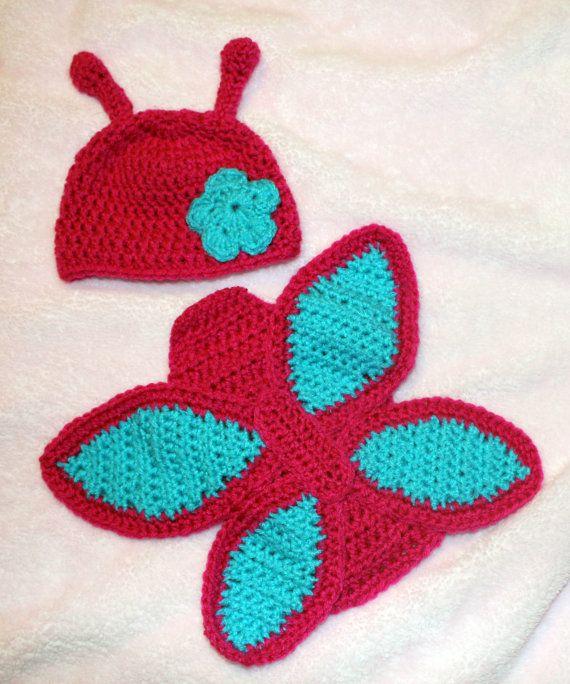 Crochet Baby Props Patterns : Crochet Butterfly Photo Prop