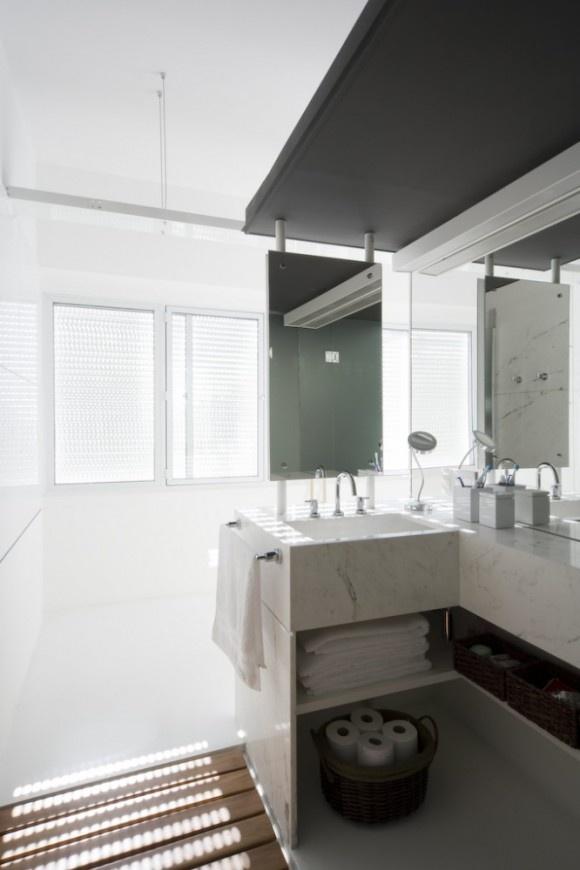 Fantastic contemporary minimalist bathroom apartment interior design