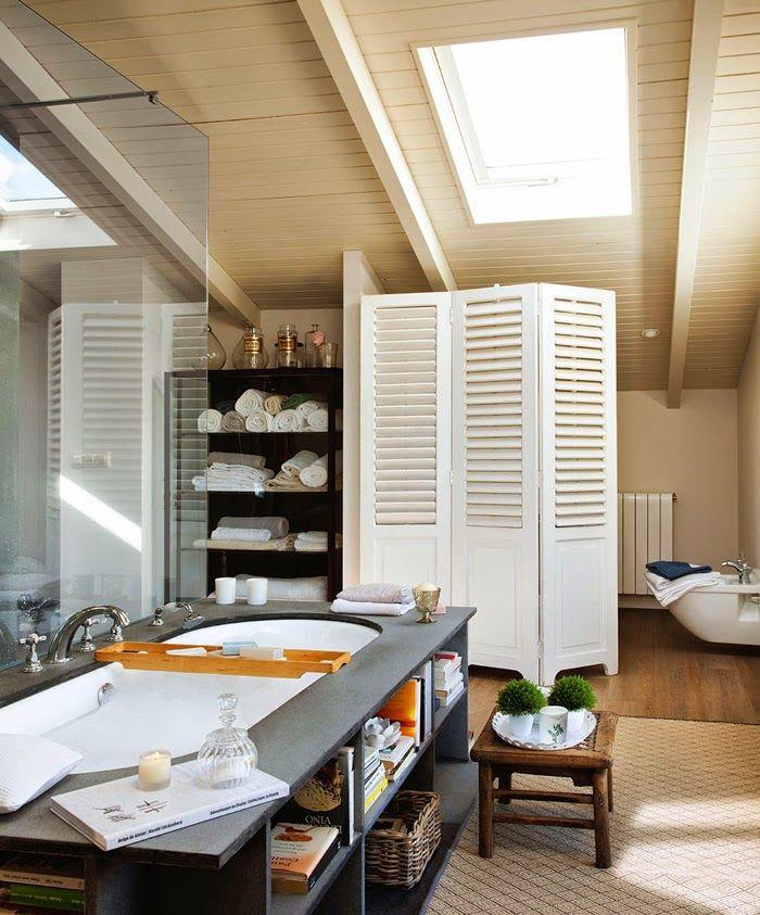 ... , Roof-Light, Screen, Bathtub | Beautiful Rooms & Houses | Pi: pinterest.com/pin/382665299561646872