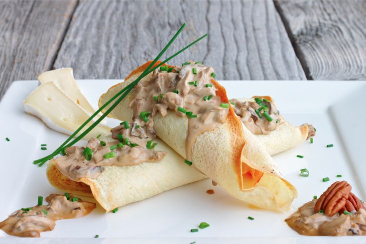 Savory Crepes stuffed with Brie, Ham and Asparagus | Recipe