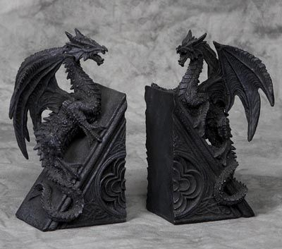 Pair of dragon bookends to have and to want pinterest - Dragon bookend ...