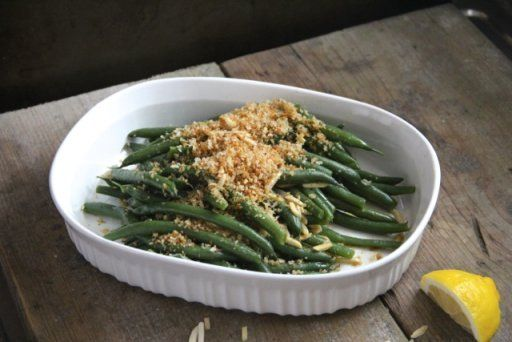 Green Beans with Lemon Breadcrumbs & Almonds | Recipe