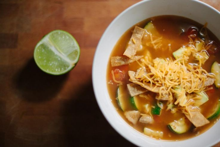 Vegetarian Tortilla Soup | have to make! | Pinterest