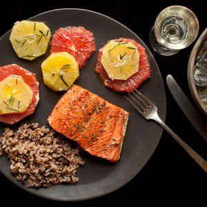 Seared Salmon with Winter Citrus Salad (Grapefruit, Blood Orange ...