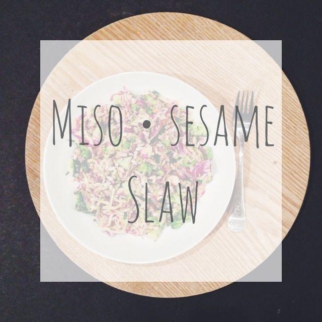 Miso • Sesame Slaw •• raw. vegan. gluten free. dairy free. soy ...
