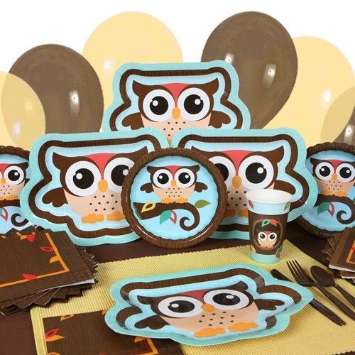 Party supplies owl baby shower or birthday party