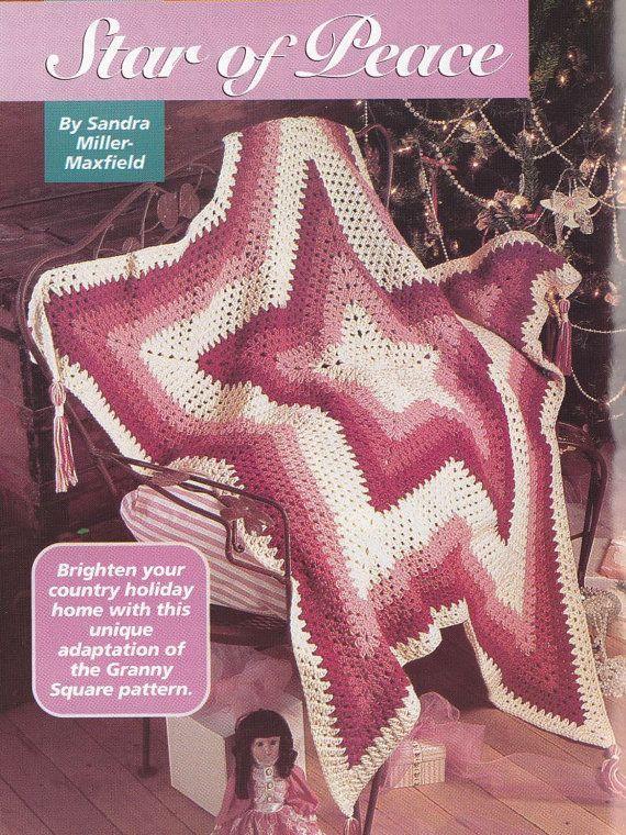 Chevron Christmas Afghan Crochet Pattern - Star Shaped ...