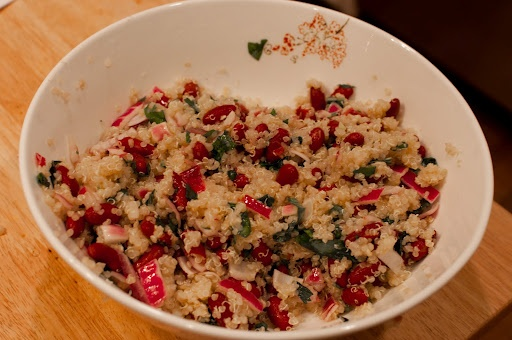 Quinoa and bean salad | Food | Pinterest