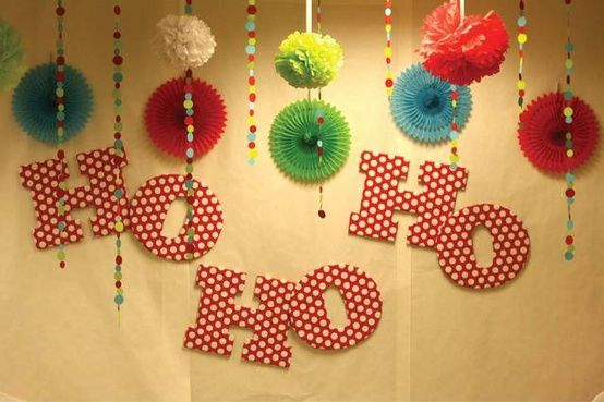 Christmas backdrop and party decor party ideas pinterest for Backdrop decoration ideas