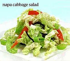 Napa Cabbage Salad | healthy recipes | Pinterest