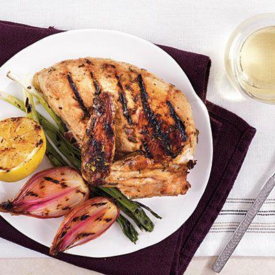 Grilled Chicken Recipes - Marinated Chicken Cooked Under a Brick ...