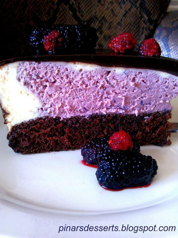 Blackberry mousse cake | homemade dessert | Pinterest