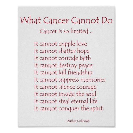 What cancer cannot do poem poster print today price drop and special